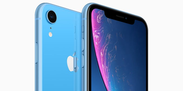 iPhone XR in blue.