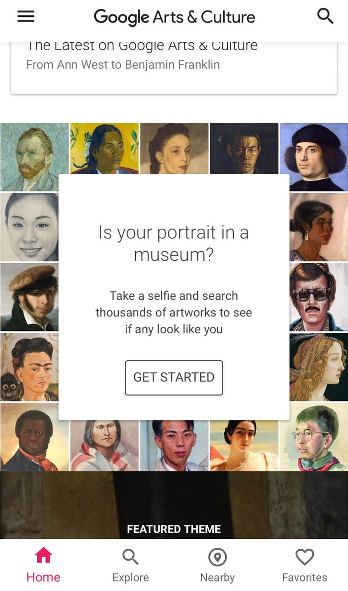 How to get google arts and culture face match app inverse for App that makes pictures look like paintings