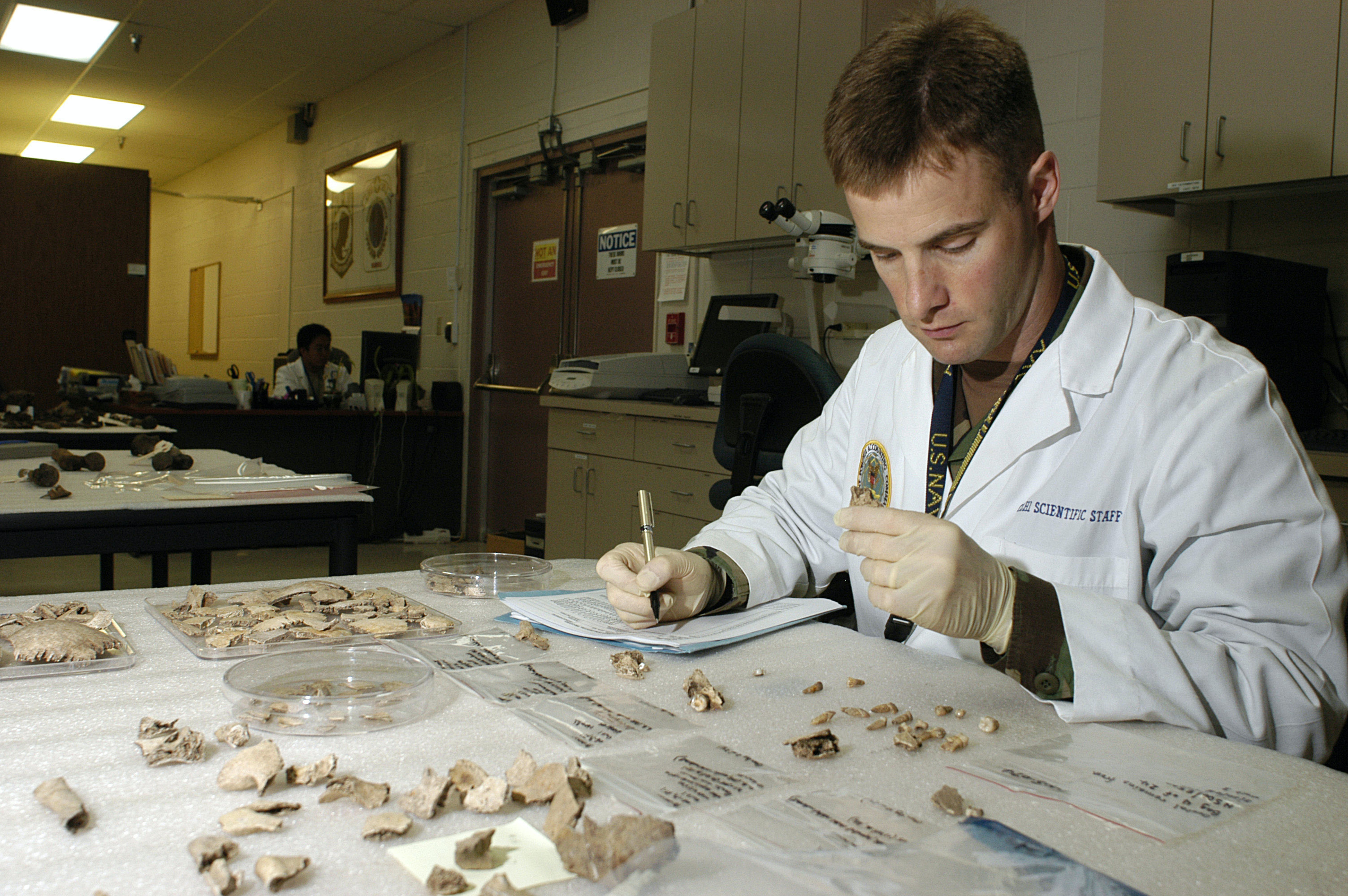 A forensic ondotologist  of the U.S. Army in 2006.