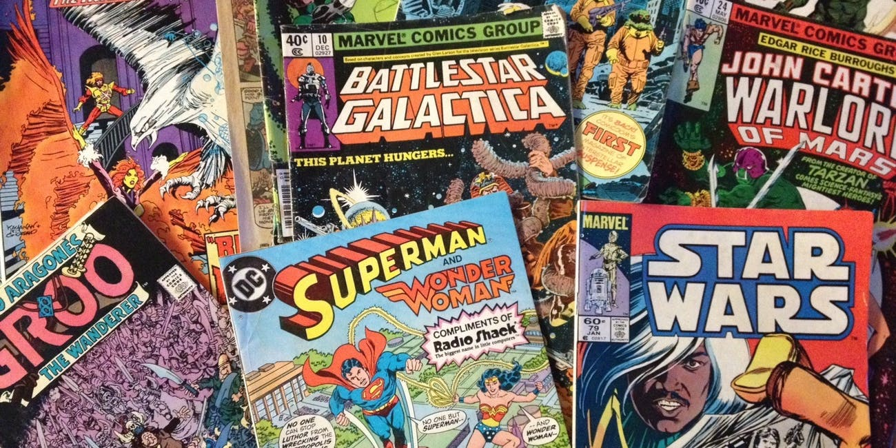 Image result for comic book pile