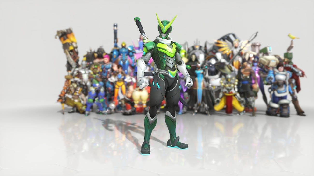 Overwatch Anniversary Event Genji Sentai Skin