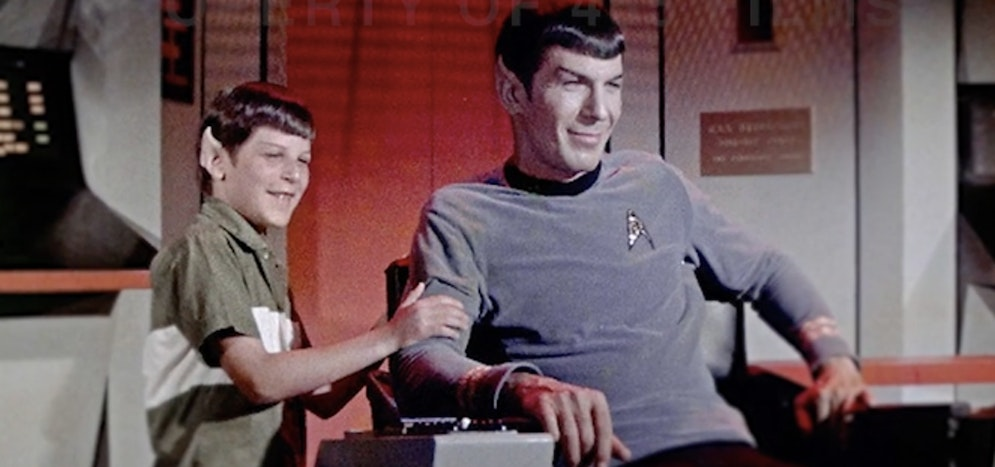 A young Adam with his father on the set of the original 'Star Trek.'