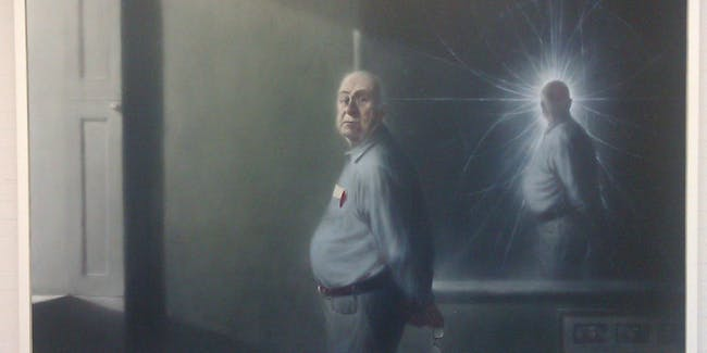 Peter Higgs portrait by Ken Currie at the JCMB, University of Edinburgh @UniofEdinburgh