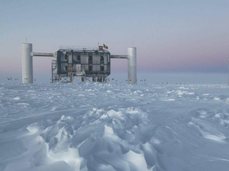 Ice cold physics: hunting for neutrinos in Antarctica.