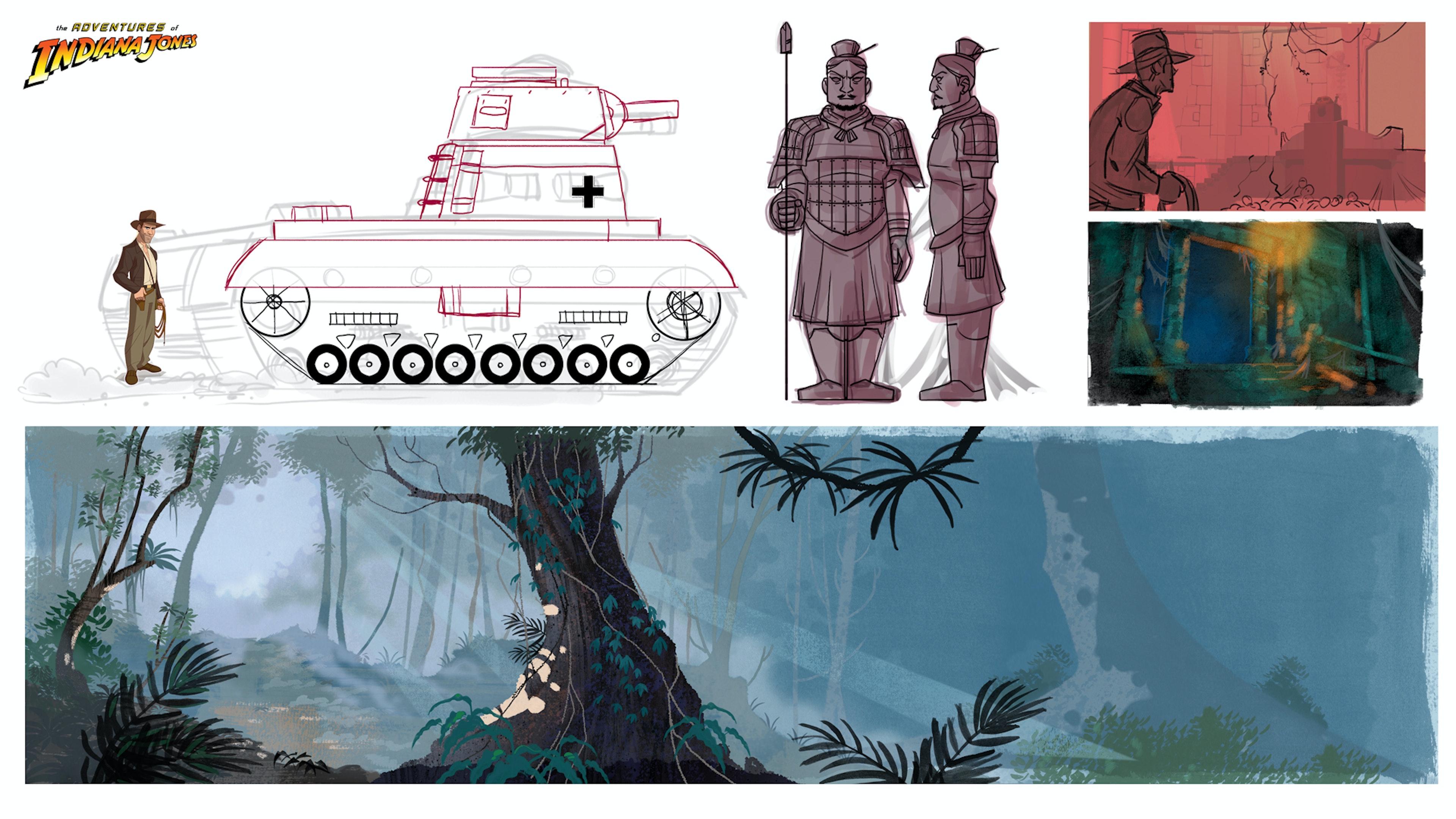 Patrick Shoenmaker's tank concept art from 'The Adventures of Indiana Jones'