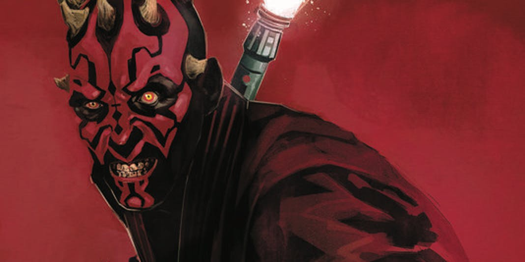 Cover of the first issue of the 'Star Wars: Darth Maul' comic