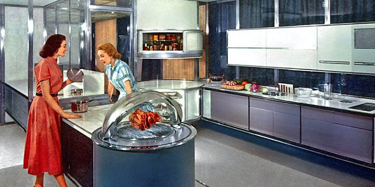 Six decades later nuclear age predictions for kitchen appliances are finally coming to fruition
