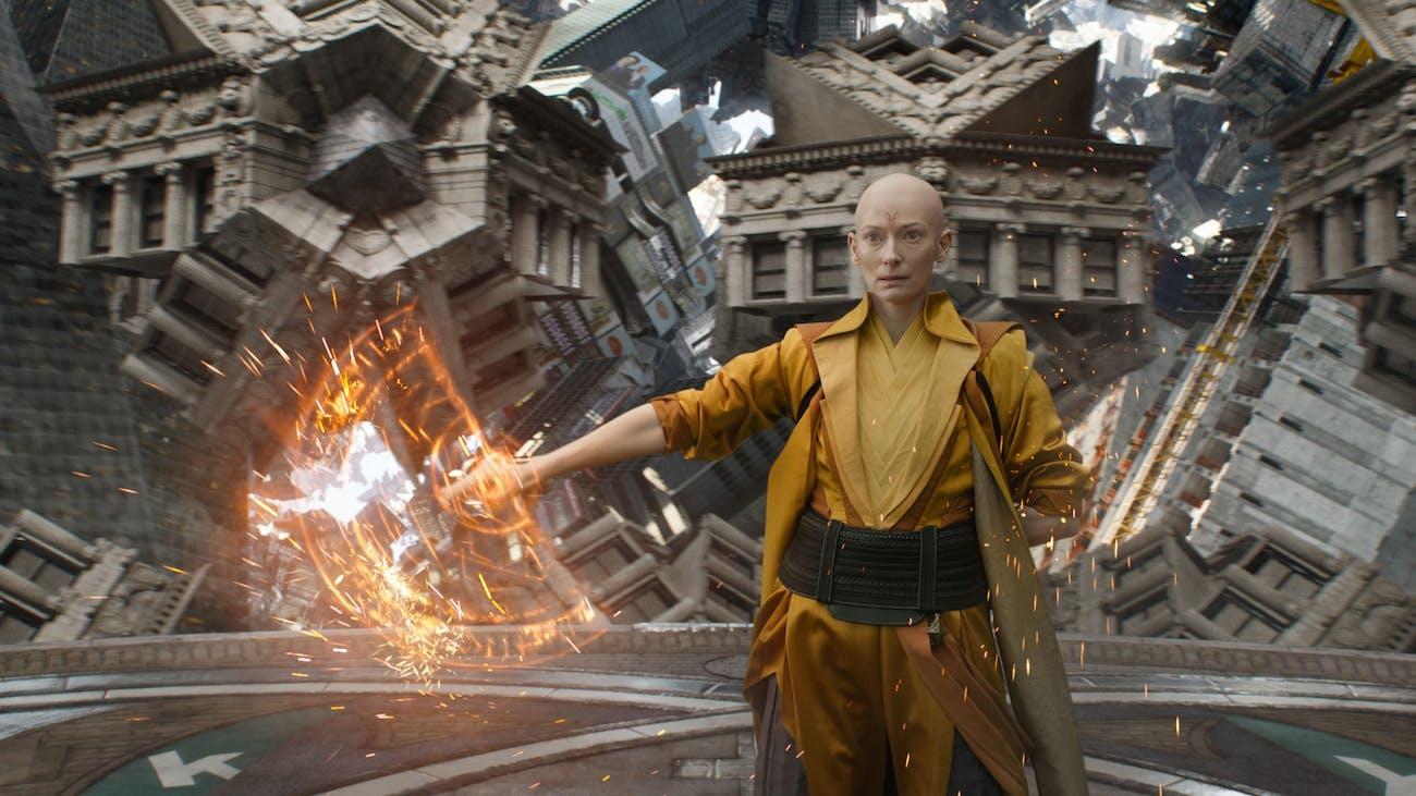 Tilda Swinton as the Ancient One in 'Doctor Strange'.