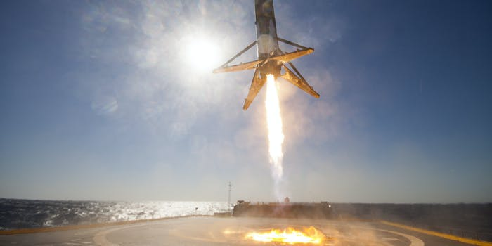 The Falcon 9 lands on April 8 on the droneship.