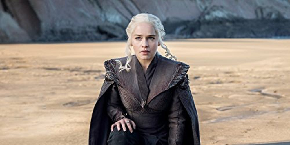Daenerys (Emilia Clarke) returns to Dragonstone on 'Game of Thrones'
