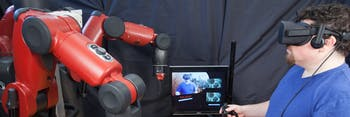 Robots operated by VR