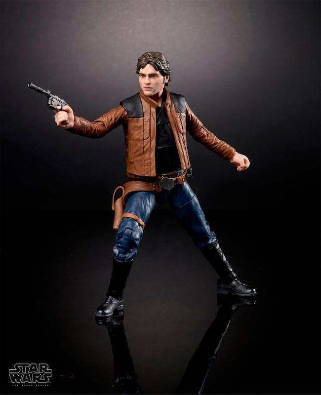 The Black Series toy of Alden Ehrenreich as Han Solo.