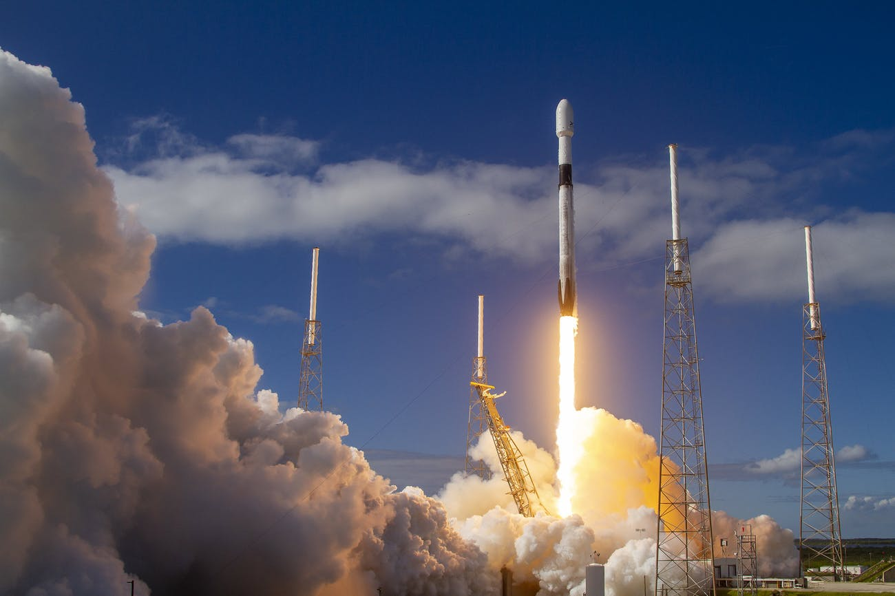 SpaceX's Starlink mission takes off from the Cape Canaveral Air Force Base in Florida.