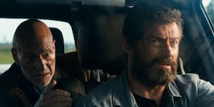 Patrick Stewart and Hugh Jackman as Professor X and Logan in 'Logan'