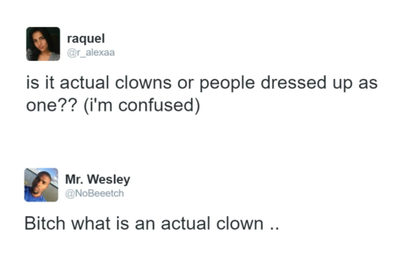 what is an actual clown ..