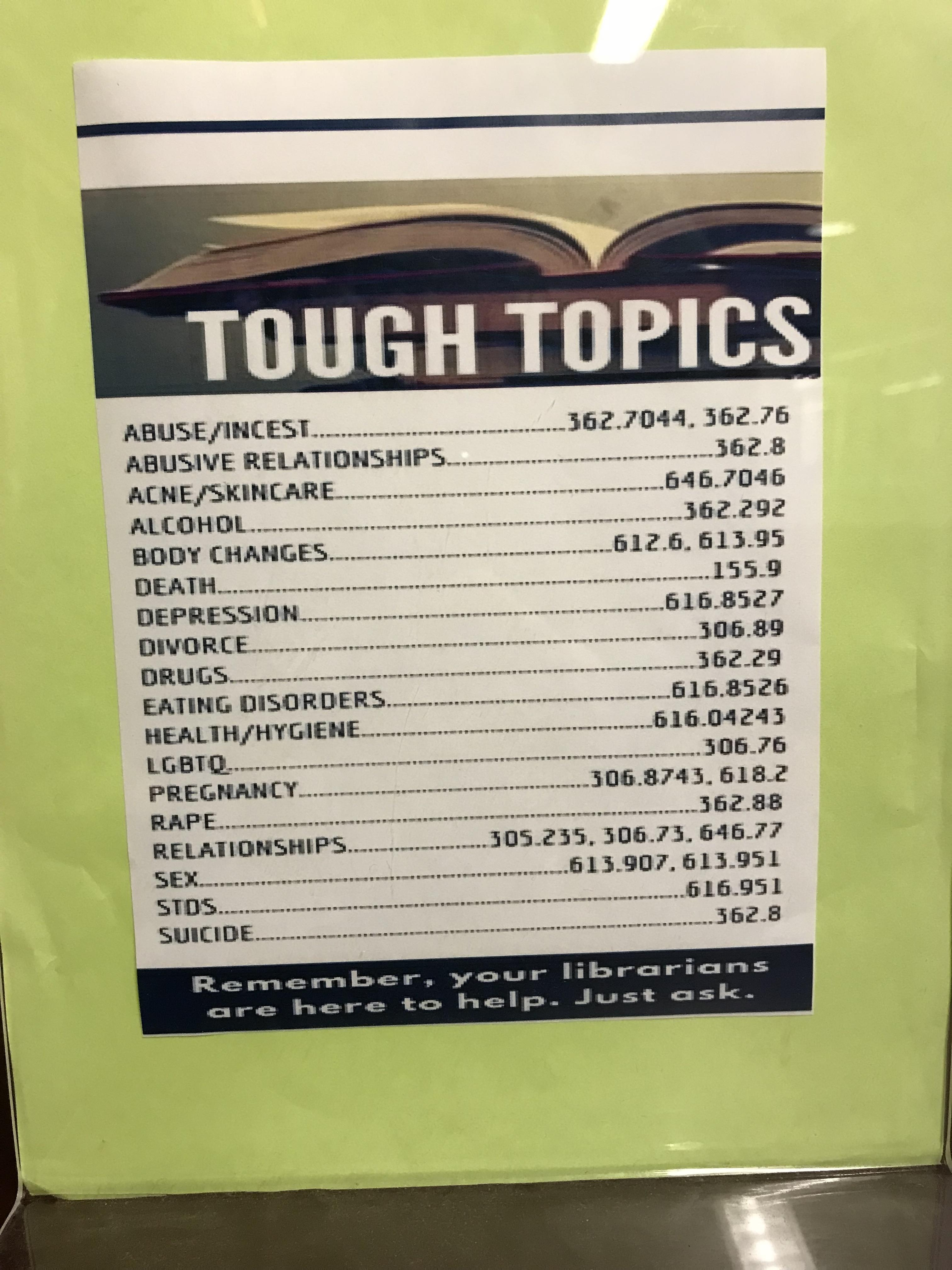 image about Dewey Decimal System Printable Bookmarks titled Complicated Matters\