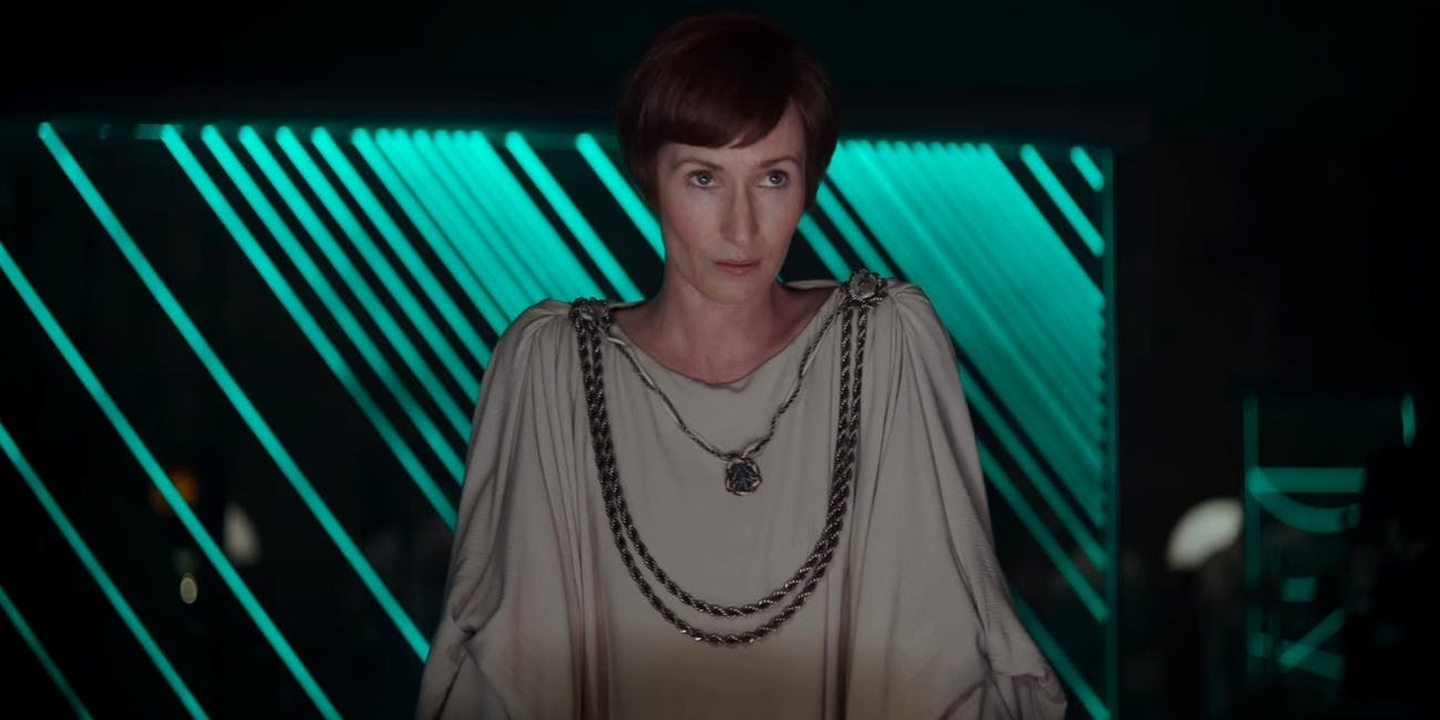 Mon Mothma, leader of the Rebel Alliance in 'Rogue One'