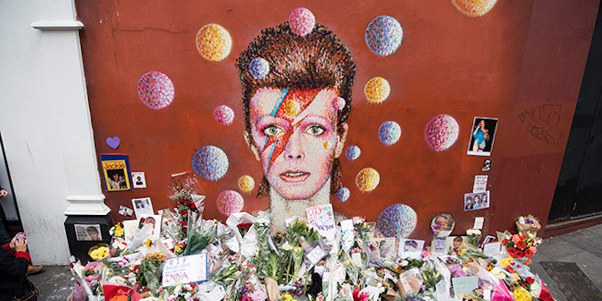 David Bowie memorial in January 2016.