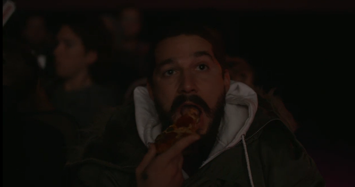 Shia LaBeouf eats a slice of Domino's pepperoni pizza during 'Holes.'