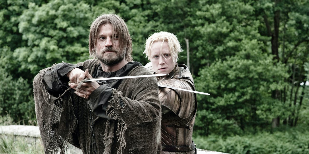 Jaime and Brienne in 'Game of Thrones' Season 3