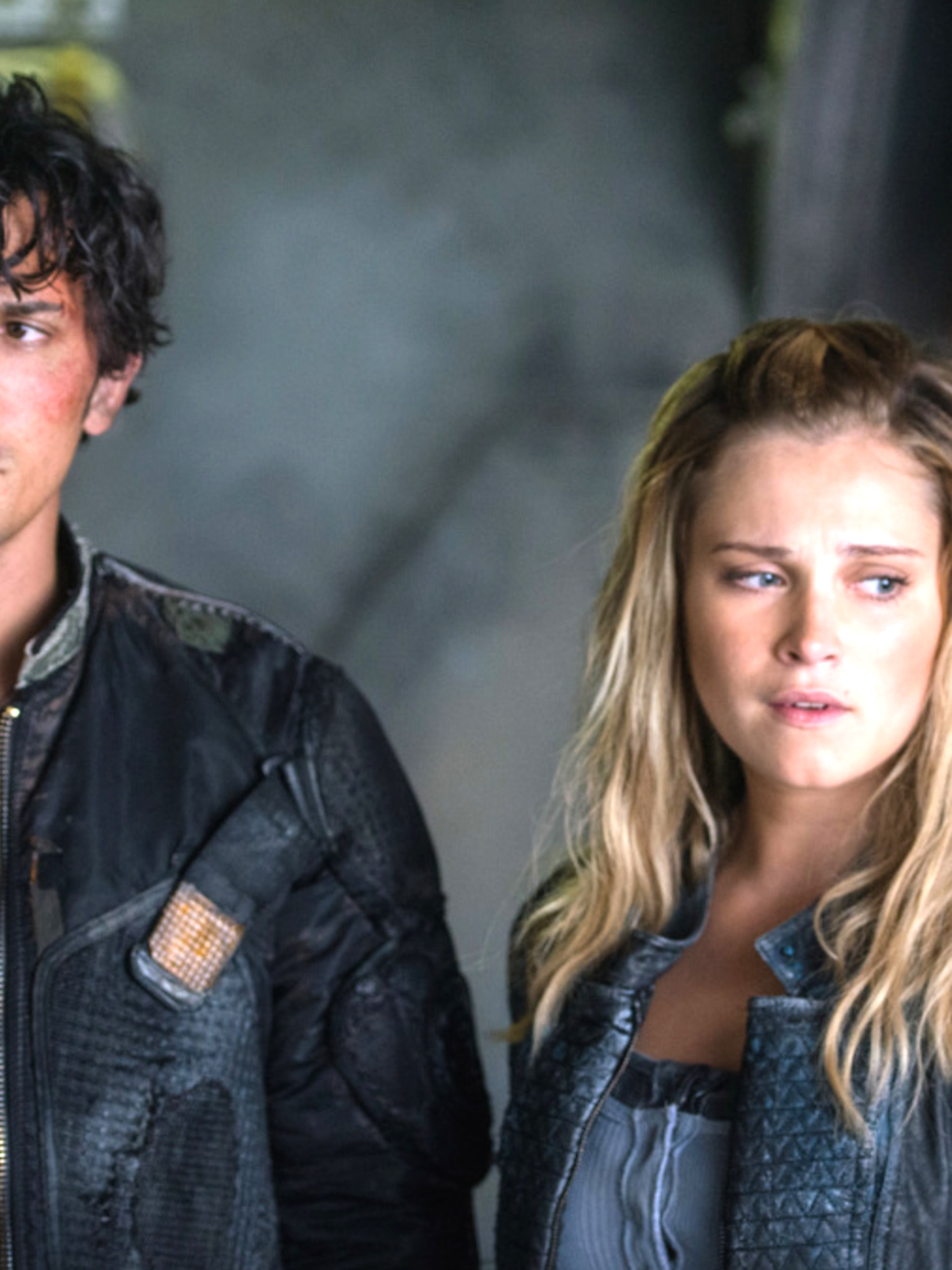 """Bob Morley as Bellamy and Eliza Taylor as Clarke in 'The 100' 'The Four Horsemen"""""""