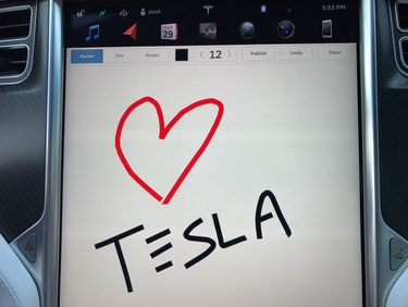 Tesla's New Update Has a Flashy Easter Egg