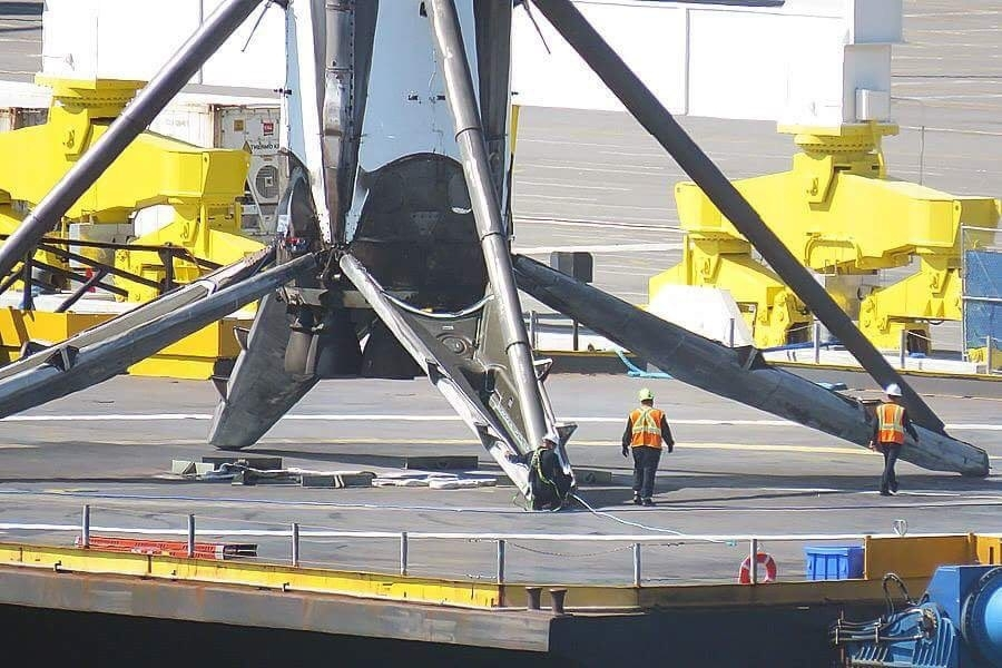 this photo shows how ridiculously huge spacex s falcon 9 rockets are inverse