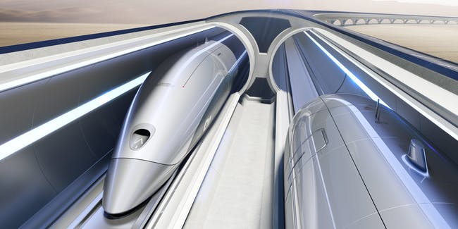 Hyperloop artist impression.