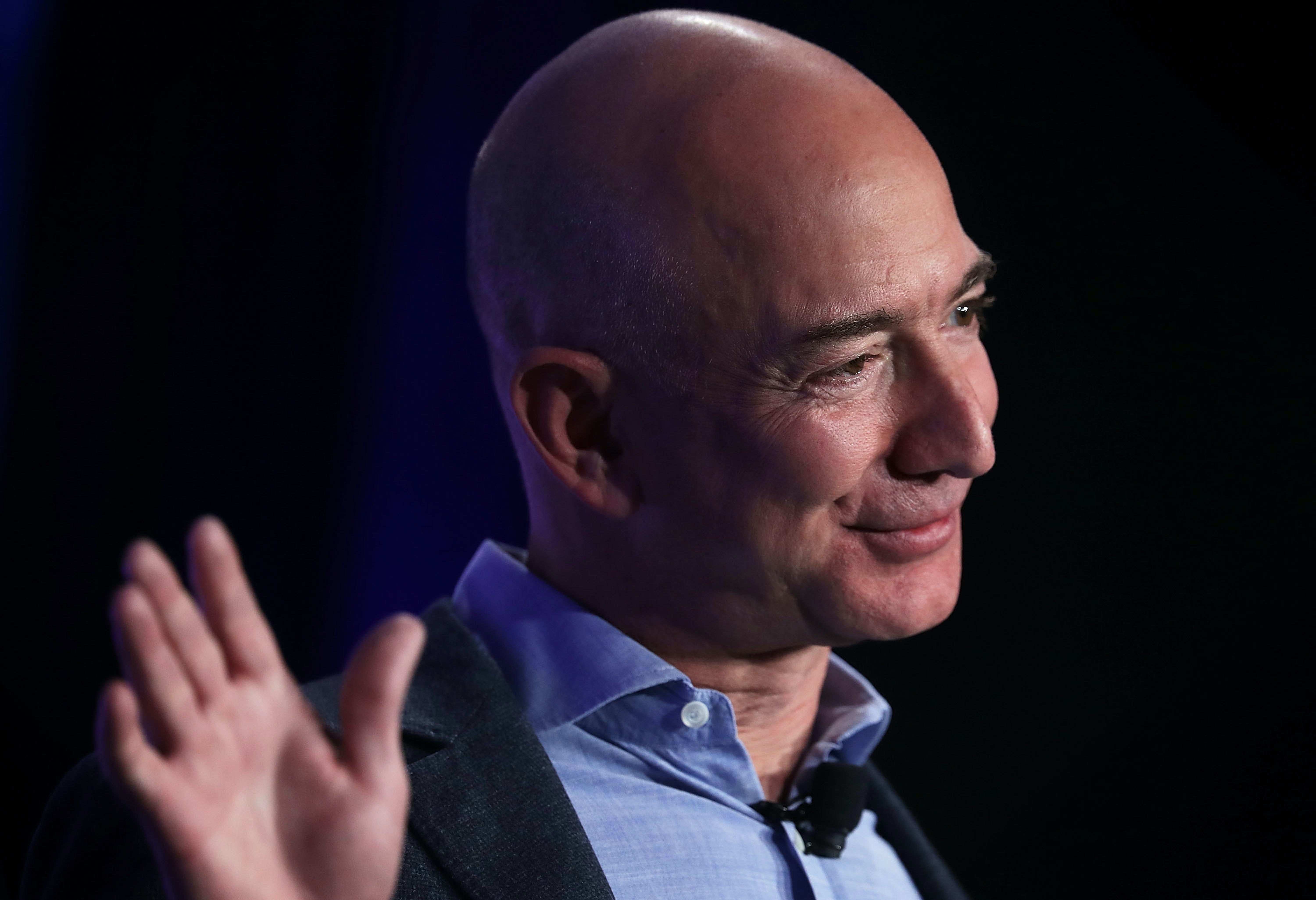 Jeff bezos founder and chief executive of amazon com and owner of the