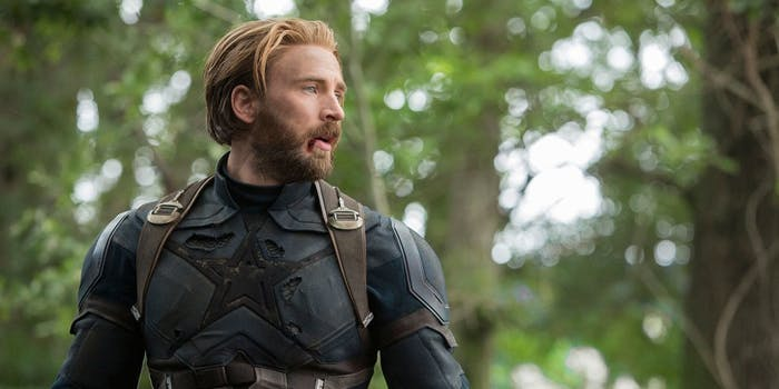 Chris Evans plays Steve Rogers, formerly Captain America, in 'Avengers: Infinity War'.