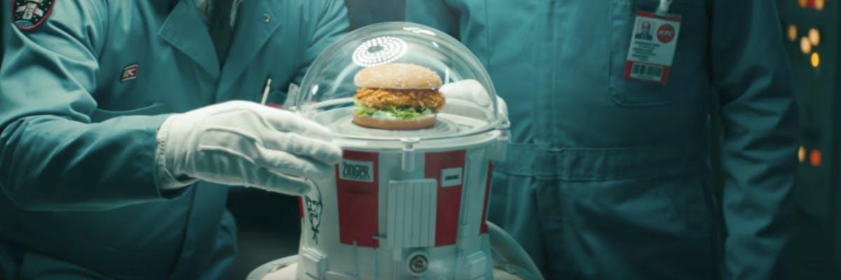 KFC chicken sandwich space