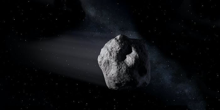 Artist conception of a near-Earth asteroid.
