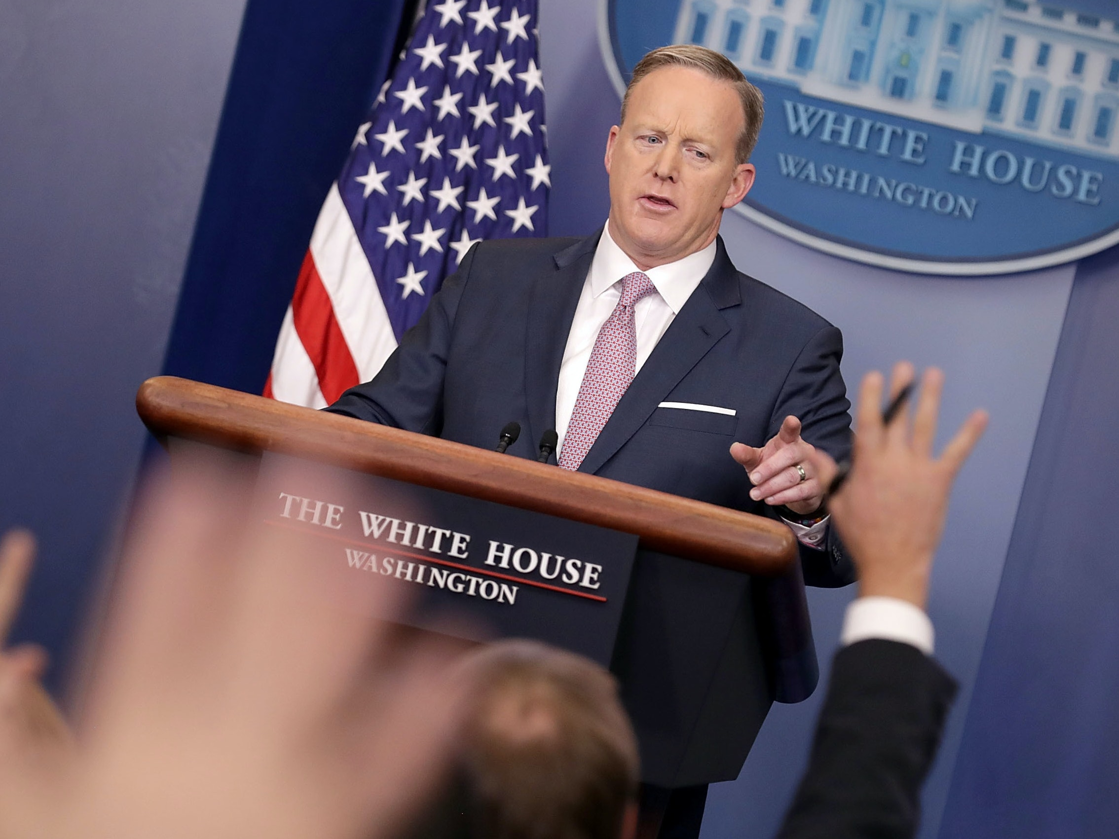 Sean Spicer Is Pro-Science When It Lets Him Swallow Gum
