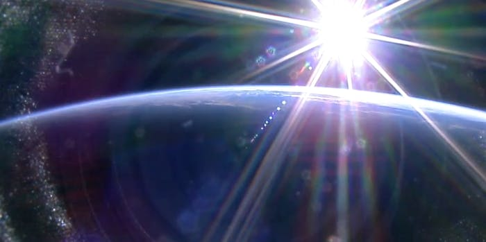 Sunrise over Earth, as seen from the ISS.
