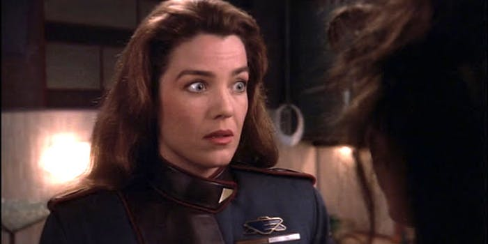 Claudia Christian as Susan Ivanova in 'Babylon 5'