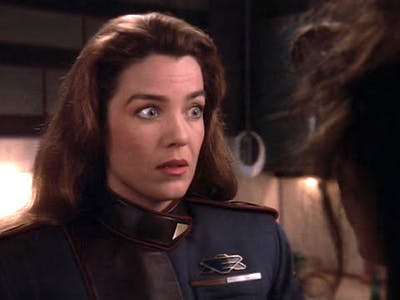 Claudia Christian as Susan Ivanova in 'Babylon 5'