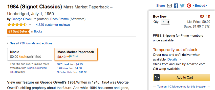 How To Buy A Copy Of George Orwells 1984 Right Now Inverse
