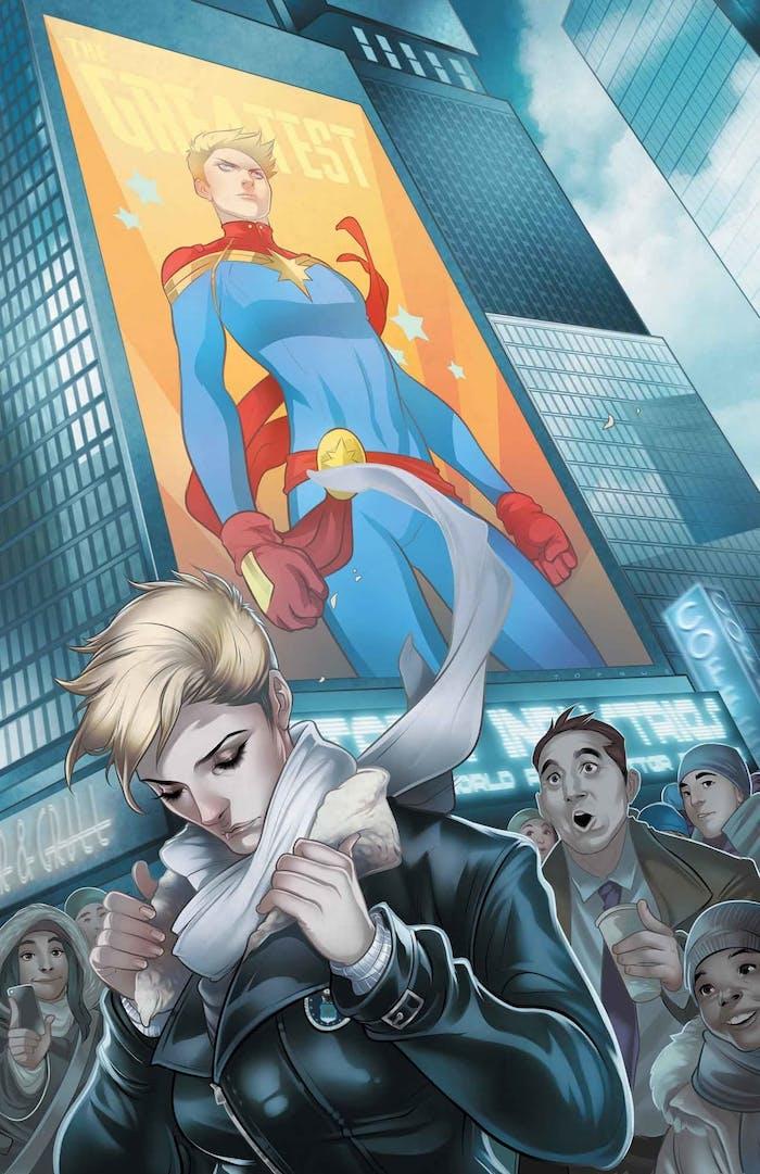 Captain Marvel cover by Elizabeth Torque