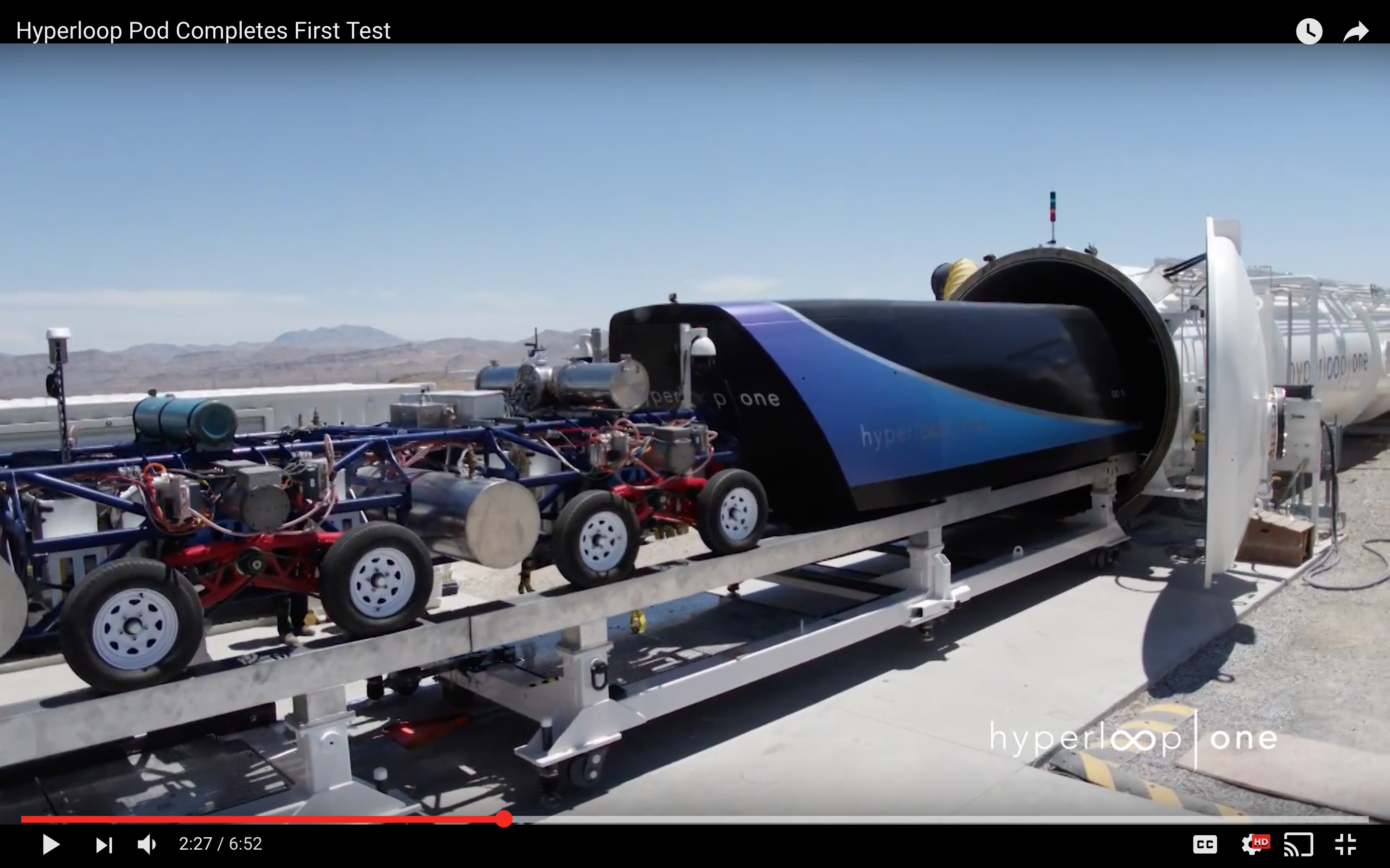 hyperloop one video shows pod traveling at 192 mph inside tube inverse