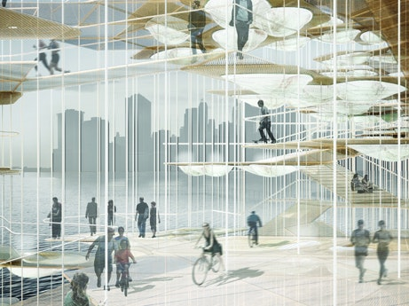 The pods could be used to light a bike path.