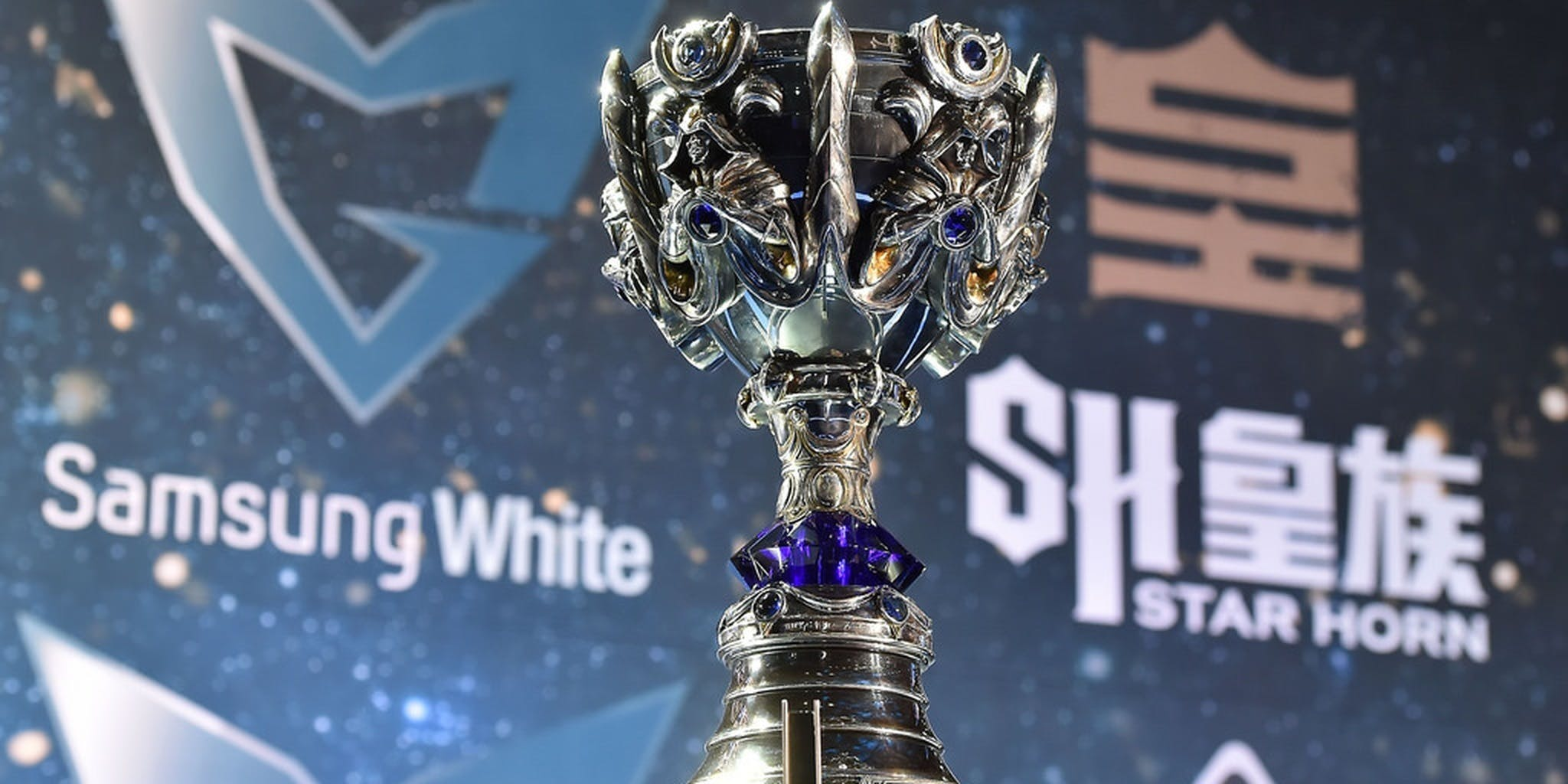 League of Legend's Championship trophy the Summoner's Cup