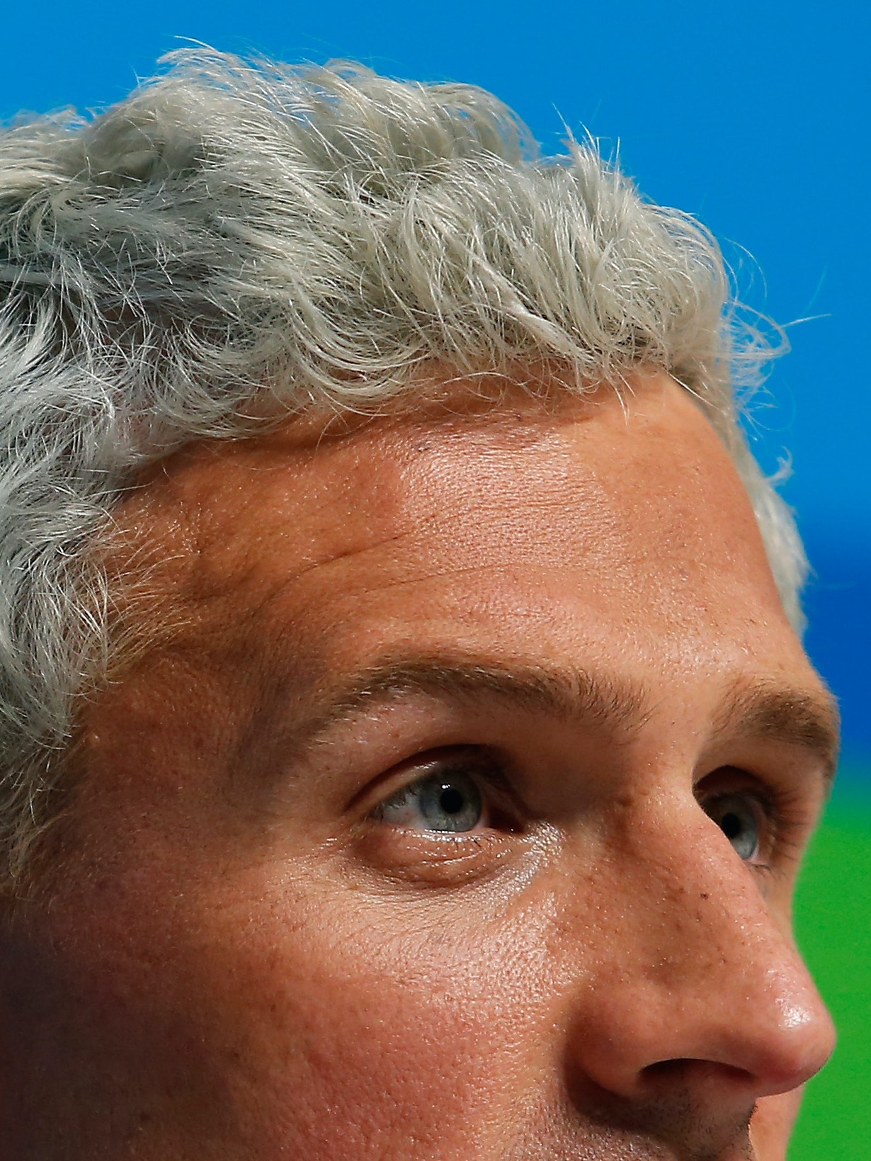 RIO DE JANEIRO, BRAZIL - AUGUST 12:  Ryan Lochte of the United States attends a press conference in the Main Press Center on Day 7 of the Rio Olympics on August 12, 2016 in Rio de Janeiro, Brazil.  (Photo by Matt Hazlett/Getty Images)