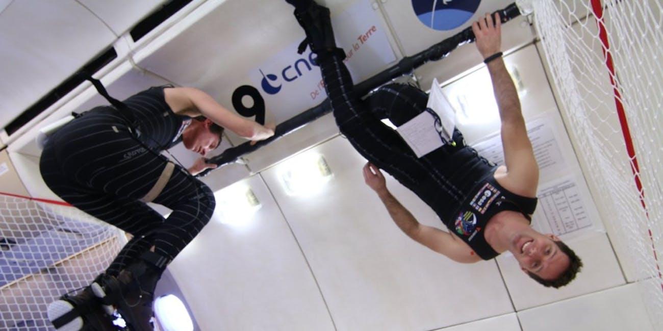 Zero-gravity spacesuit.