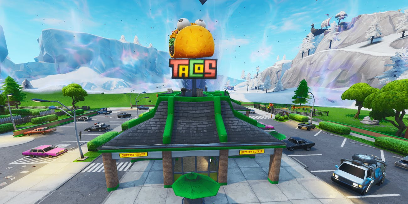fortnite taco shop greasy grove