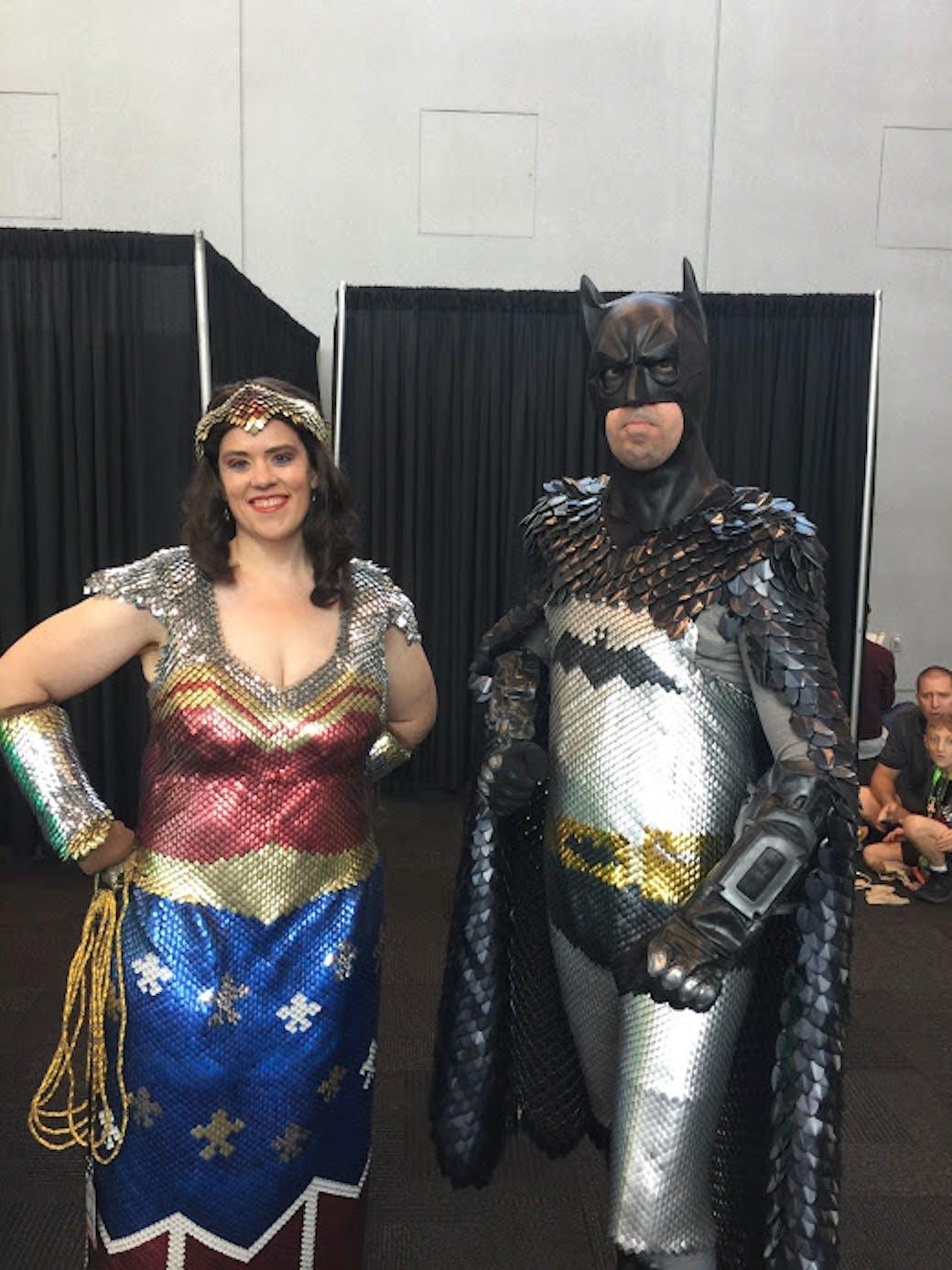 nycc cosplay batman wonder woman