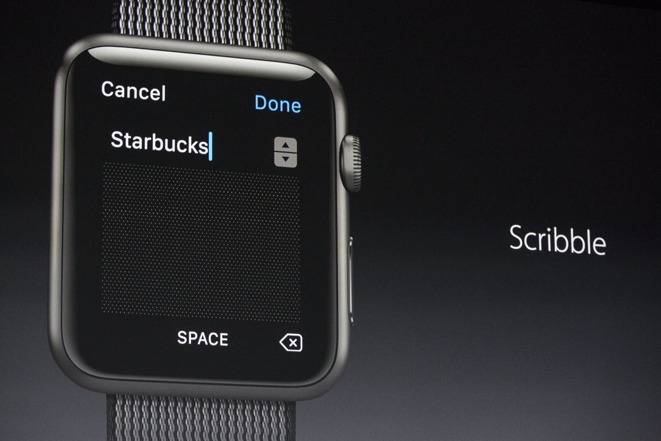 The Apple Watch 2 in action.