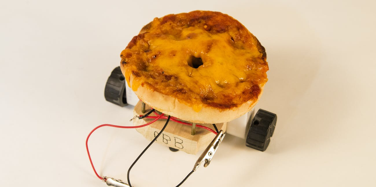 Pizza Bagel Bot robot food bagel