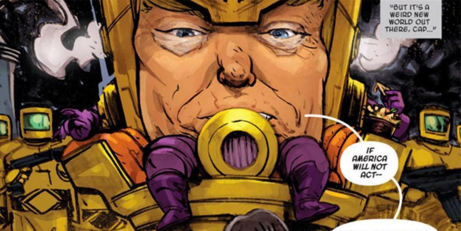 Trump in Marvel Comics as M.O.D.A.A.K.