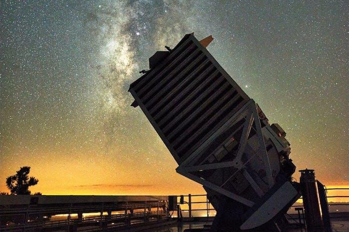 The Sloan Digital Sky Survey telescope where APOGEE operates.