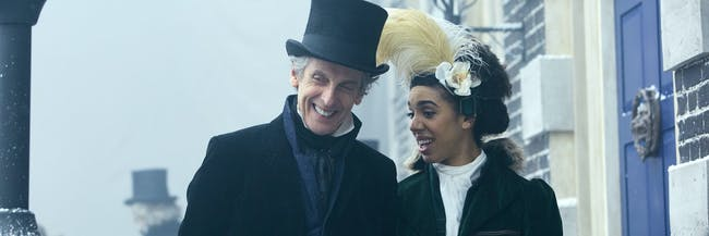 Bill and the Doctor explore the Frost Fair in 1814 London.